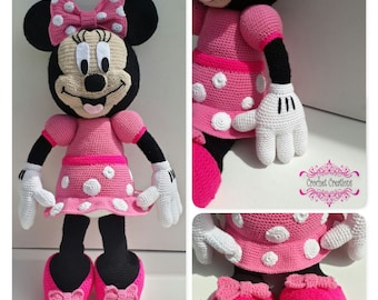 Minnie Mouse Full Crochet Pattern