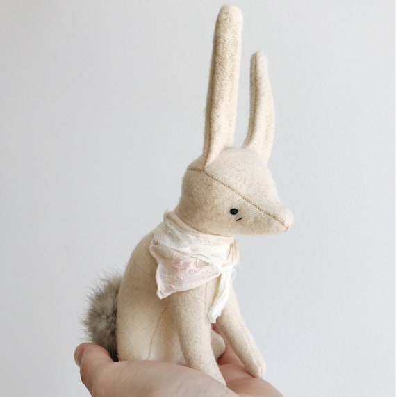 spring blossom bunny | soft sculpture animal