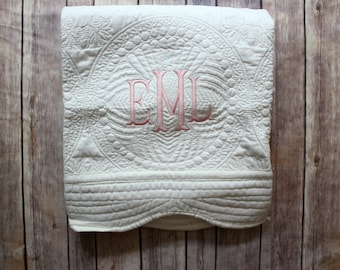 Personalized Baby Quilt, Monogrammed Quilt, Baby Blanket, Personalized Quilt, Monogrammed Blanket, New Baby, Baby Girl Quilt, Blanket