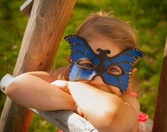 Child Sized Leather Butterfly Mask