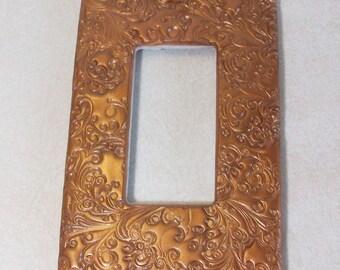 ON SALE was 14.95 Screwless rocker style single light switch cover curly swirly bronze