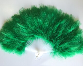 Marabou Feather Fan (with 21 staves)