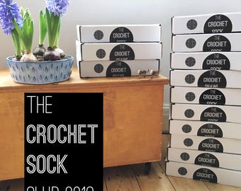 The Crochet Sock Club - 2018 - 6 Box Subscription