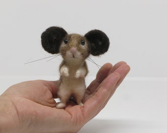 Needle Felt Animal Needle Felted Mouse by Loosemoosey