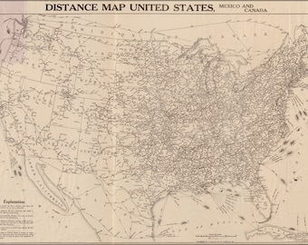 Poster, Many Sizes Available; Railroad & Air Map United States Of America 1919