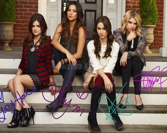 Pretty Little Liars cast pre signed photo print poster - 12x8 inches (30cm x 20cm) - Superb quality - N.0 1