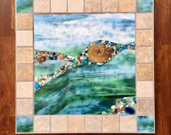 Stained Glass Mosaic, Stained Glass Panel, Mosaic Wall Art, Stained Glass Abstract, Abstract Art Tile, Mosaic, Mosaic Art, Mother's Day Gift