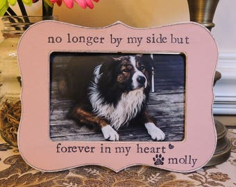 Pet loss gift Personalized Dog Frame Cat Pet Sign Pet Sympathy Gift Dog Photo Frame cat Dog Memorial Frame Pet Lover Gift Loss of Dog Cat