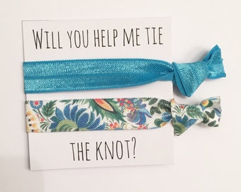 Bridesmaid hair tie favors//elastic hair ties, bridesmaid favors,bachelorette party,bridesmaid gift, hair tie favors
