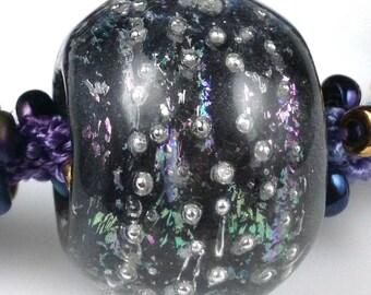 Large Focal Handmade Glass Bead - Kumihimo Focal Bead - Bead By Unicorne Glass - Borosilicate Glass Bead - Large Bead - Handmade Glass Bead