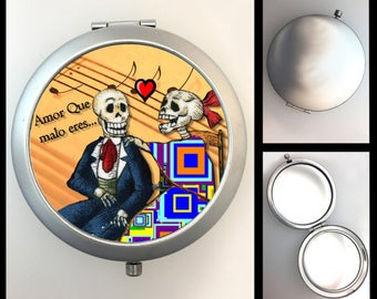 Compact Mirror Day of the Dead Couple #420
