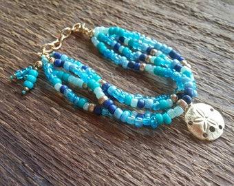 Sand Dollar Bracelet, Beach Bracelet, Bracelet, Handmade Bracelet, Charm Bracelet, Bohemian Jewelry, Beach Jewelry
