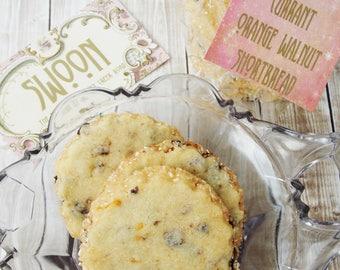 Currant Orange Walnut Shortbread Cookie Gift Box ~ Scottish Shortbread ~ Walnut Cookies