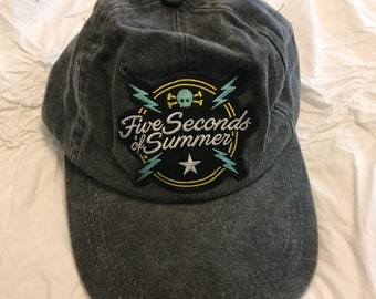 5 Seconds Of Summer Baseball Cap OOAK DIY 5SOS
