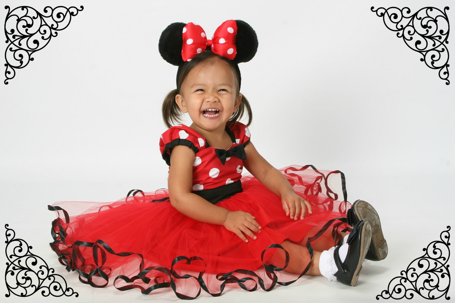 Imikimi Nederlandstalig Awesome red minnie mouse dress with tutu party dress in red polka