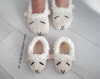 Man home shoes, crochet lambie slippers