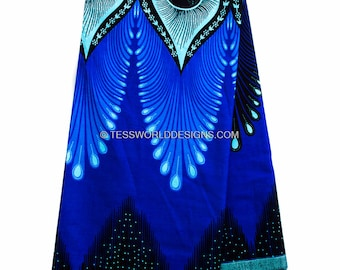 Best African fabric by the yard/ Plume  Java African Fabric/ Java Print/ African print/ Tissue Africaine/ African Wax Print/ WP851B