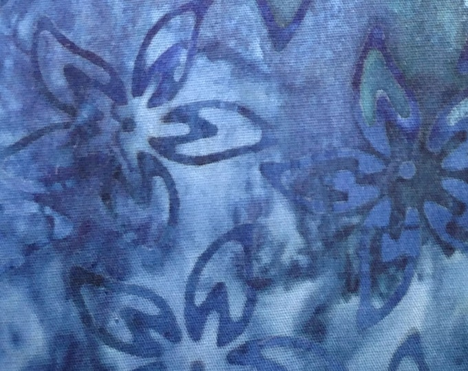Blue tone Batik Stock Tie