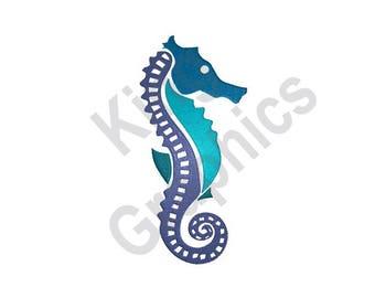 Seahorse - Machine Embroidery Design