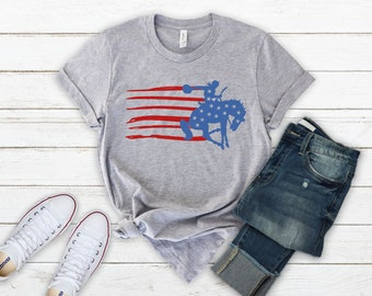 Patriotic shirt, 4th of July Shirt, Rodeo shirt, 4th of july shirt women, july 4th, American flag shirt, Cowgirl shirt, Texas shirt, Country