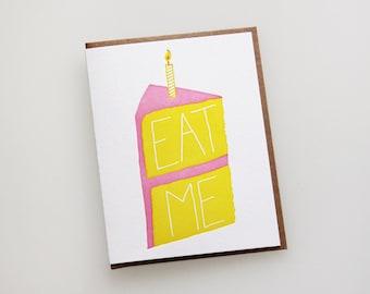 Eat Me, letterpress birthday card