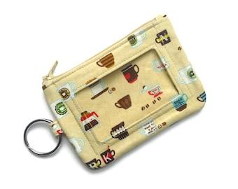 Id Case - Id Holder Wallet - Key Chain Wallet - Student ID Holder - Keychain Coin Purse - Keychain Card Holder - Credit Card Holder