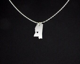 Mississippi Necklace - Mississippi Jewelry - Mississippi Gift