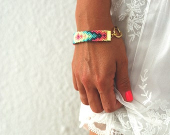 Chunky Chain Friendship Bracelet. Pastel Love.