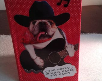 Guitar playing dog journal