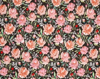 Fabric by the Yard --  Marquesas Rosette in Coral by Dena Designs