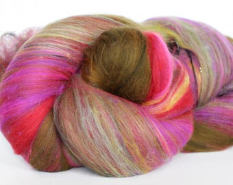 ECHERVERIA 4 oz  Wool - Merino // Art Batt // Wool Art Batt for spinning or needle felting