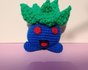 Oddish pokemon, crochet, handmade amigurumi