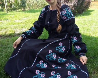 Embroidered Dress Vyshyvanka dress Ukrainian embroidery ethnic dress vyshyvanka, embroidered Ukraine dress