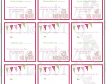 DIY - RSVP CARDS - It's A Boy / It's A Girl Baby Shower