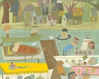 Summer Vacation.  Limited edition print by Matte Stephens.