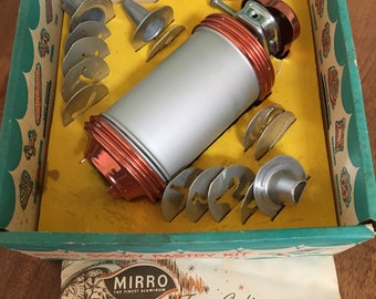 Vintage Mirro Cooky and Pastry Press Cookie and Cake Decorater w/ Accesories & Recipe Book