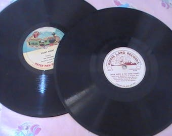 Vintage Kiddie Land and Peter Pan 78 rpm Records
