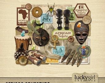 African Adventure Digital Scrapbook Kit
