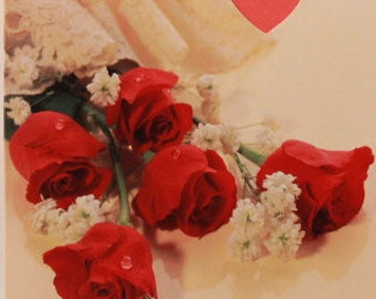 NEW! Vintage For You My Love Valentine's Day Greeting Card by Marian Heath. Single Card and Envelope.