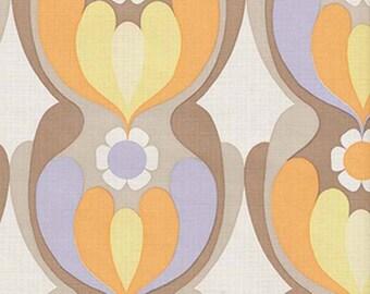 RETROMODERN GEOFLORAL POPART Original Vintage Wallpaper - 1970s