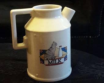 Vintage Cat Milk Pitcher vase Portugal Teleflora