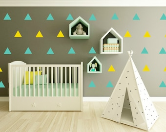 Modern Triangle Wall Decal - Triangle Wall Decal Set - Triangle Decor Decals - Triangle Vinyl Decal - Triangle Wall Sticker - 4in Triangles