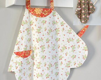 Cabbage Rose Cutie Pie Apron Fabric Pattern Quilting Sewing