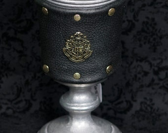 HP , Statesmetal Goblet, Wrapped in Leather Studded Band