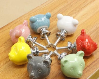 More Colors. Bear Ceramic Knob ...
