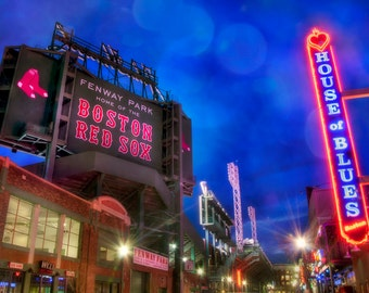 Boston Red Sox - House of Blues - Fenway Park - Red Sox Fan Boston Art - Red Sox Gifts for Him - Red Sox Print - Red Sox Man Cave Decor