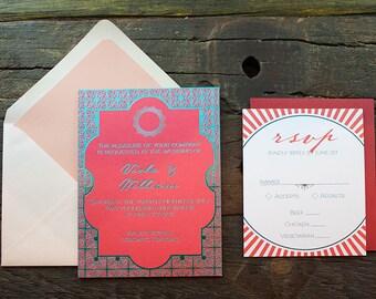 Viola Wedding Invitation Sample