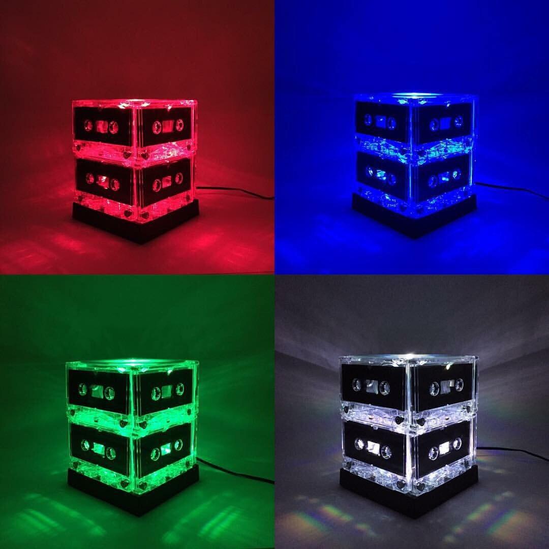 Color Changing Tape Light: Color-changing Cassette Tape Light Mixtape Lamp
