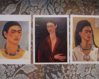Frida Kahlo Postcard Prints - Set of 3 - Self Portraits