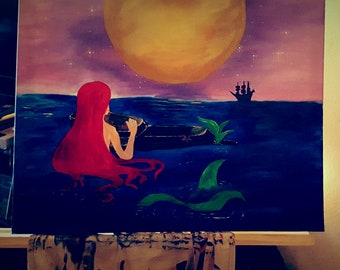 16 x 20 Little Mermaid
